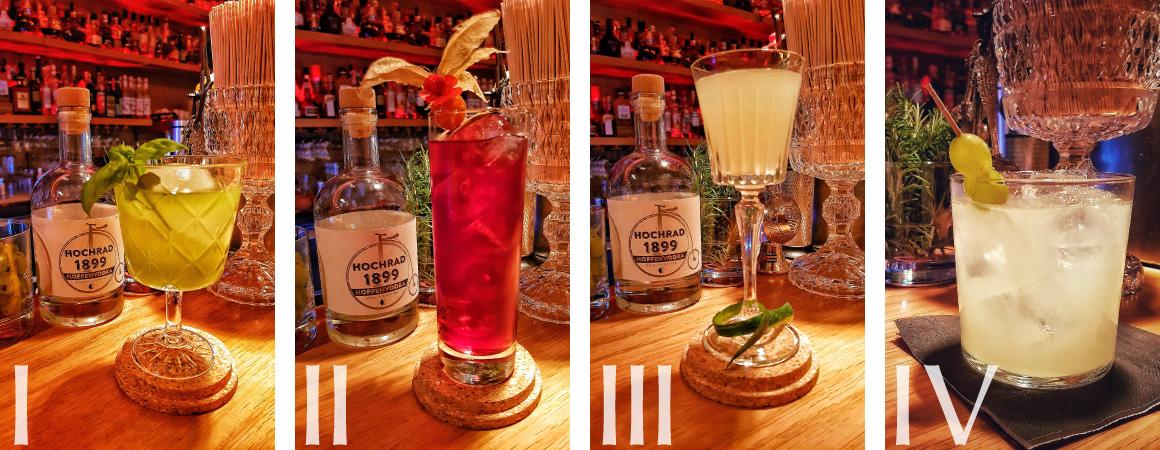 Hochrad 1899 Hopfenvodka-Cocktails